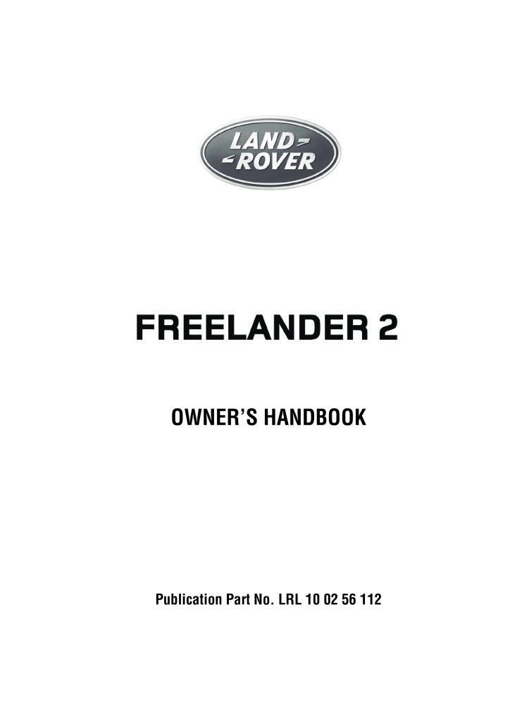 Freelander 2010 Owners Manual Pdf  8 83 Mb