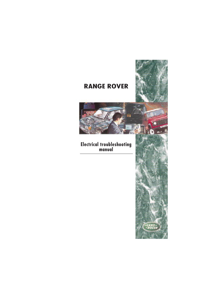 1993 range rover wiring diagram range rover electrical troubleshooting manual pdf  16 9 mb   electrical troubleshooting manual pdf